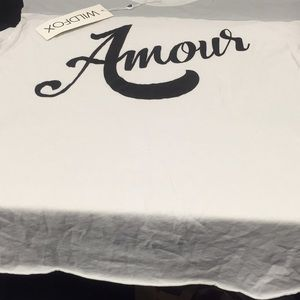 Tops - Wildfox Made in Los Angeles Amour tshirt